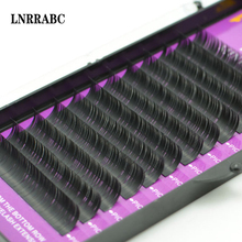 Fashi 12 Rows Each box one length Dense Very fine imitation mink velvet Grafted eyelashes Eyelash Extension Soft False Eyelashes(China)