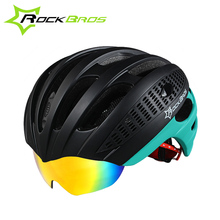 2017 RockBros Bicycle Helmets Unisex New Safety Protector Cycling Helmets With Goggles Ultralight Mtb Mountain Road Bike Helmets