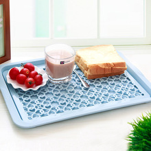 Kitchen Creative Multifunction Drain Tray Hollow Fruit Vegetable Dish Tray Draining Plate Storage Rack Shelving Rack Drain Board