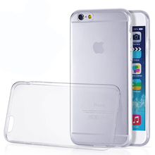 Clear Super Slim Soft Sillicon Cover For iPhone4 4S 5 5S SE 6 6S 6 Plus 6s plus Phone Case Ultra Thin Transparent Gel TPU