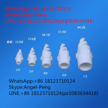Ceramic spiral spray nozzle,spiral nozzle,Dust extract spiral dedusting nozzle,gas cooling application,
