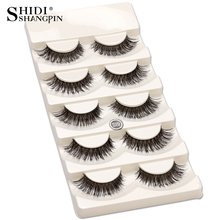 5 pair/set False Eyelashes Black Cross Fake Eye Lashes Natural Long Makeup Eyelash Extension Fake Eyelashes Wispy Eye Lashes(China)
