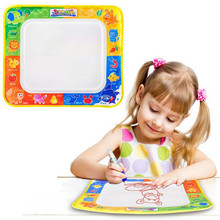 2017 MylitDear 29*19cm 4 Colors Water Drawing Mat Toys Aquadoodle Mat With 1 Pen Painting Drawing Board Toys For Children(China)