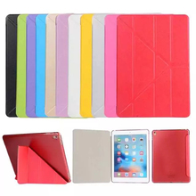 Foldable Transformers PU Leather Stand Case for Apple Pad Mini1 2 3 4 Air Air 2 Smart Protective Cover for Pad 2 3 4 Pro/Pro 9.7