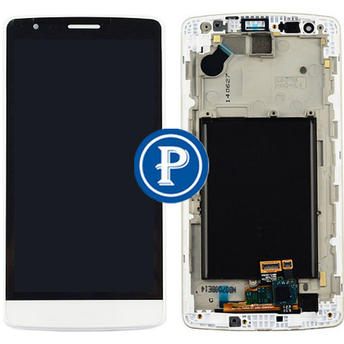 For LG G3 Mini (G3s) D722 D722V D724 Beat D722K D725 Complete Lcd Screen with Digitizer Assembly and Frame - White<br>