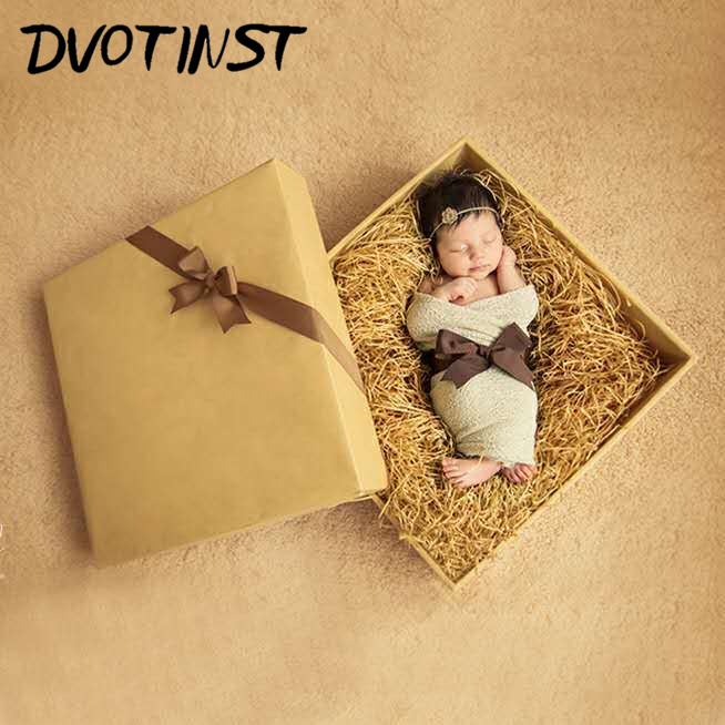 Baby Photography Props Wooden Box Christmas Decoration Showe Gift Box Fotografia Accessories Infant Toddler Studio Shoot Photo
