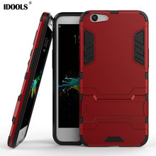 IDOOLS Case for OPP A59 A59M Heavy Duty Armor Stand Cover Hard Plastic With Kickstand IDOOLS Phone Accessories Bags Cases(China)