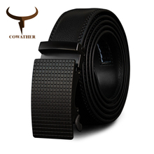 Buy COWATHER Cow Genuine Leather Belts High Men Automatic Vintage Male Belt Brand Ratchet Buckle Belts 110-130cm long for $11.99 in AliExpress store