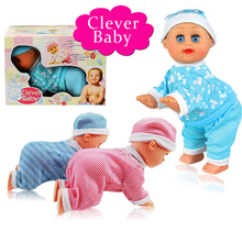 Free Shipping Baby Kids Electric Intelligent Crawling Crying Singing Dancing Simulation Doll