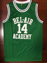The Fresh Prince Of Bel Air Academy Jersey #14 Will Smith Green Mens jersey All Stitched(China)