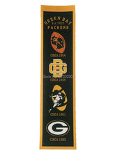 Green Bay Packers Sports Team San Francisco Giants Rectangle Heritage Flags Banners With String Felt Pennats 20*81cm(China)