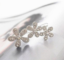 Korea Rhinestone  Hairpin Sunflowers Side Clip Hair Accessories CJWD104