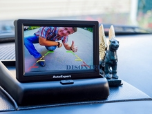 "4.3"" screen monitor Foldable Digital TFT LCD Car Rearview Monitor for Camera Folded Black(China)"