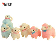 20/30cm Cute pink/blue sheep plush toys sheep pillow Cushion stuffed PP Cotton plush doll kids baby birthday gift(China)