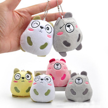 10/pcs Korean silently bear pendant plush doll stuffed toy bear adorable little four-color ornaments were shipped
