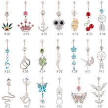 Belly rings 10 pieces mixed different style piercing body jewelry navel ring registered postal service free shipping nickel-free(China)