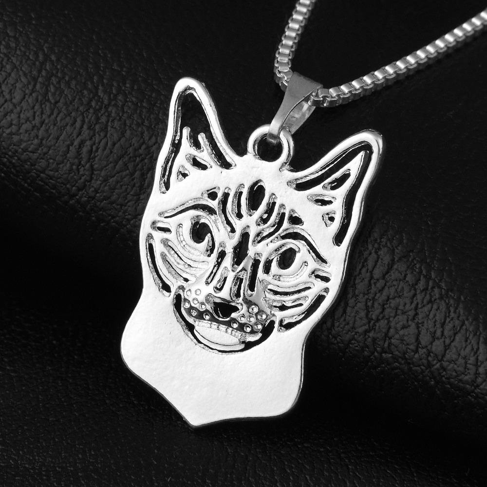 101-18x28mm,Siamese Cat Necklace