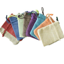 50PCS/LOT Sweet Bursa Sachets Gunny Pumping Rope Storage Bag Craft Gift Jewelry Packaging Bags(China)