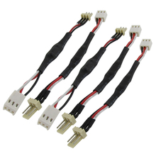 5 Pcs 3 Pins Noise Reduction Cable Lead for PC Cooling Fan