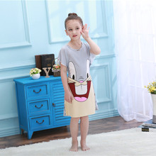 Summer Cute Kids Sleeping Dress Toddler Girls Nightgown Summer Cartoon Children Princess Nightdress Clothing child night skirt