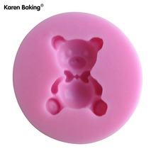 1PCS Cute Bear Shape Chocolate Candy Jello 3D Silicone Mold Cartoon Figure/Cake Tools Soap Mold Sugar Craft Cake Decoration C090
