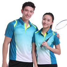 Sportswear Quick Dry breathable badminton shirt,Women/Men table tennis clothes team game training short sleeve POLO T Shirts(China)