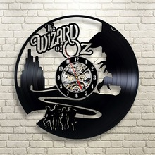 The Wizard Of OZ Vinyl Record Clock Wall Art Home Decor