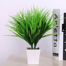 1PCS New Style Clover Plant 7-fork Green Grass Artificial Plants For Plastic Flowers Household Store Dest Rustic Decoration(China)