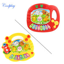 Coolplay CP5031AB Baby Kid's Animal Farm Mobile Piano Smart Music Toy Electric ENGLISH Early /Xmas Gift Free shipping