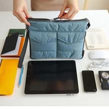 Travel Lightweight Washable Tablet PC Padded Sleeve Storage organizador Bag Handle Organizer Pouch for ipad mini GPS PM3(China)
