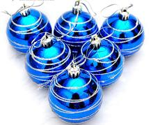 12pcs 6cm Red/Gold/Blue High Quality Round Ball Pendant For Christmas Party Holiday Tree Venue Hanging Decoration New
