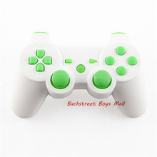 Custom Matte White for PS3 Controller Hydro Dipped Shell Mod Kit + Matching Buttons for Sony PS 3 PS3