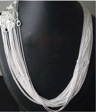 "promotion sale,wholesale Price 50pcs/lot Silver Plated 1mm Link Rolo Chains 18""inch Fashion women Jewelry Chains"