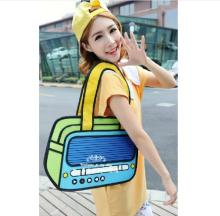 New 2D Shoulder&Crossbody Bags Novelty Back To School Bag 3D Drawing Cartoon Comic Handbag Lady Shoulder Bag Messenger Gifts