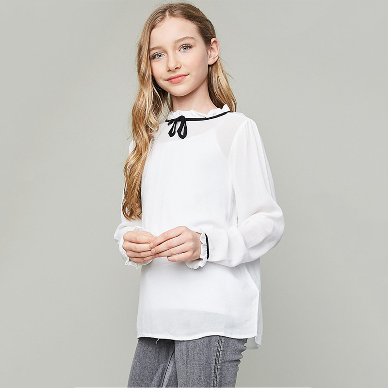 2017 Girls Children Clothing Spring Teenage Clothes Fllow Easter party pageant Blouse for age 8 9 10 11 12 13 14<br><br>Aliexpress