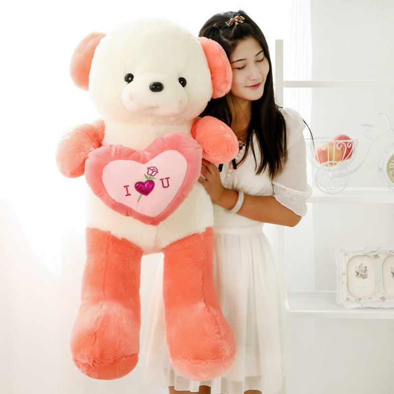 2017 New 70cm Free Shopping Stuffed Soft Bear Holding A Heart I Love You Romantic Teddy Bear Doll For Valentines Day Gift<br><br>Aliexpress