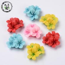 Mixed Flatback Resin Flower Cabochons, 21x21x10mm