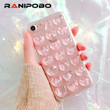 Buy 3D Glitter Love Heart Case iPhone 7 7Plus 6 6S Plus Soft TPU Clear Cases iphone7 Capa Best Gifts for $1.49 in AliExpress store