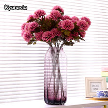 Kyunovia Artificial Dahlia Stem Faux Spider Dahlia Flower High Quality Silk Flowers for Home Hotel Wedding Office Decor KY09(China)