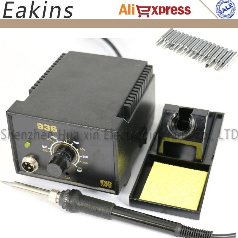 936 Soldering Station kit set Adjustable Electric soldering iron Welding repair kit SET 17pcs Solder Tips 900M-T.. EU Plug/220V<br>