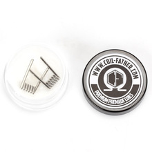 Coil Father High Density Pre-built NI80 Premade Frame Staple Coil 3 Core DIY Coil Heating Resistance Coil Wire for Ecig 2pcs/lot(China)