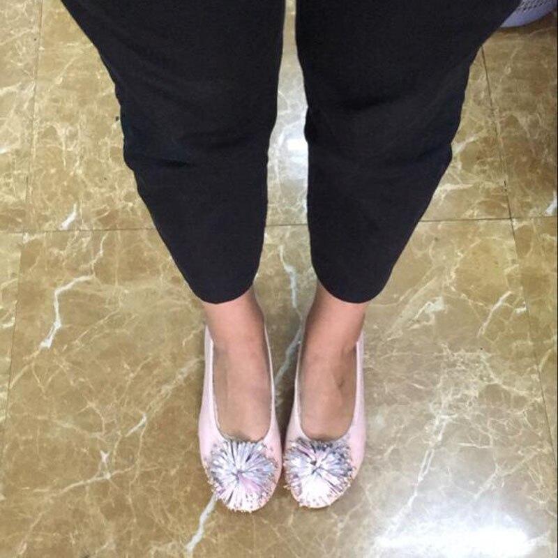 Women Shoes Flats Genuine Leather Women's Moccasins Tassel Slip On Female Footwear Pink Black Loafers Soft Leisure Ballet Flats (24)