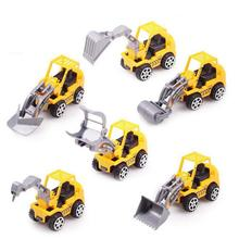 6 Styles Mixed Engineering Vehicle Model Toy Car Truck Toys For Children Car-Styling Model Classic Toy Excavator Bulldozer(China)