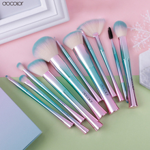 Docolor 11PCS Brand Make Up Brushes Colorful Cosmetic Brushes for Makeup Tool Kits(China)