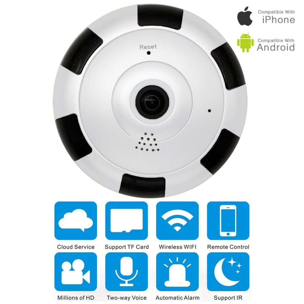 Funi Fisheye V380 Panoramic Camera HD 960P Wireless Wifi IP Camera Home Security Surveillance System Camera Wi-fi 360 degree<br>