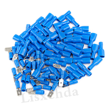 Hot Sale 20Pcs Male/Female Blue Quick Spade Wire Connector Insulated Electrical Crimp Terminals Set Quick Disconnects 6-14AWG