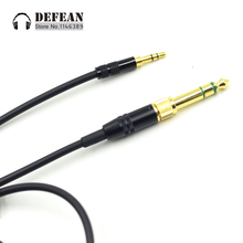 Replacement wire DIY line Upgrade 3.5mm DJ Spring Audio Cable For SOUL SL300 SL150 SL100 LOPP Soul JET Headphones
