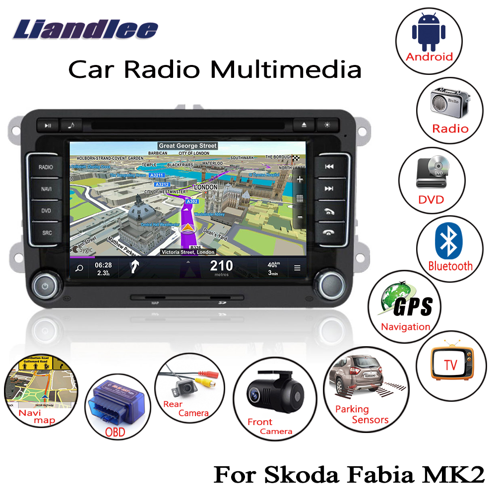 Liandlee For Skoda Fabia MK2 2007~2014 Android Car Radio CD DVD Player GPS Navi Navigation Maps Camera OBD TV HD screen Multimedia1
