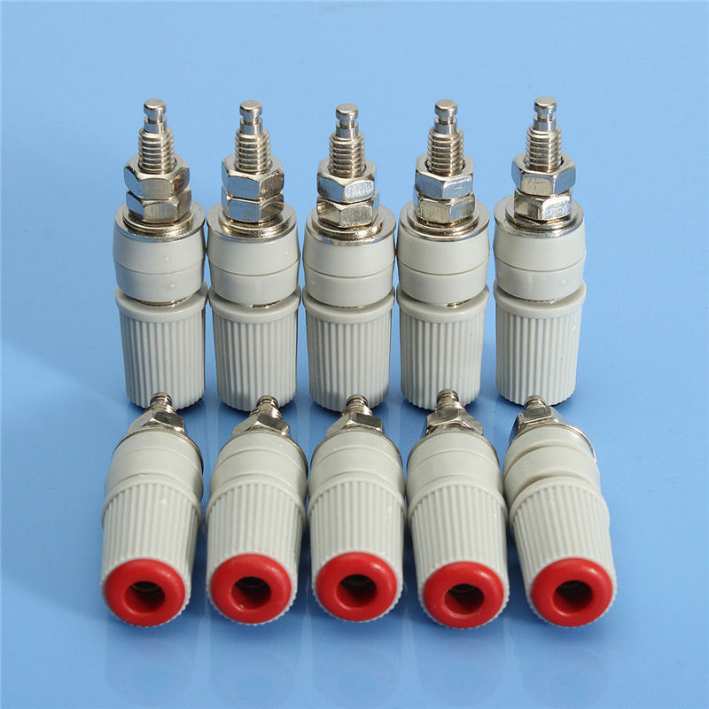 10x 30A High Current M5 4mm Female Banana Jack Socket Test Binding Post Welding Plug Connector<br><br>Aliexpress