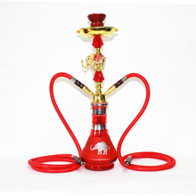 Double pipe water and smoke pot animal modeling glass smoking glass bowl pipe Hookah carbon bowl Hookah carbon smoking pipes